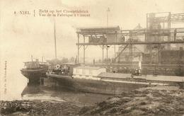 NIEL - Zicht Op Het Cimentfabriek (cementfabriek) Met Aangemeerde Boten - Uitg. Fr. De Vries / Marcovici - Niel