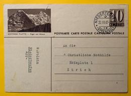 9318 - Entier Postal Illustration  Schynige Platte Niedrteufen 22.04.1947 !!! Petites Déchirures En Haut à Gauche - Entiers Postaux