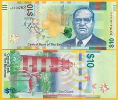 Bahamas 10 Dollars P-78 2016 UNC Banknote - Bahamas