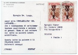 DEAR DOCTOR TYPE PUBL. PELARGON ROSSO-NESTLE' / MAURITANIA/MAURITANIE RETOUR DE PECHE - Mauritanie