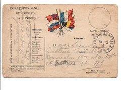 CARTE EN FRANCHISE ECRITE 1916 - Poststempel (Briefe)