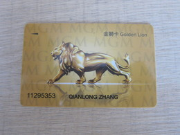 Golden Lion Card By MGM Macao,backside Edge Tiny Damaged - Casino Cards