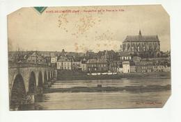27 . PONT DE L ARCHE . PERSPECTIVE SUR LE PONT ET LA VILLE  ( Coin Coupe ) - Pont-de-l'Arche