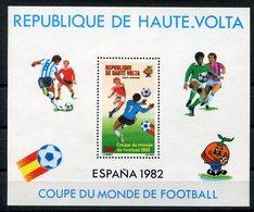 RC 14627 HAUTE VOLTA COUPE DU MONDE DE FOOTBALL 1982 ESPAGNE BLOC FEUILLET NEUF ** MNH TB - Obervolta (1958-1984)