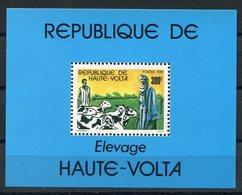 RC 14628 HAUTE VOLTA ELEVAGE BERGER MOUTONS BLOC FEUILLET NEUF ** MNH TB - Obervolta (1958-1984)
