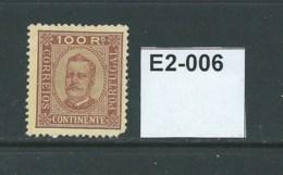 Portugal 1892 King Carlos 100r - Unused Stamps