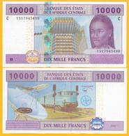 Central African States 10000 (10,000) Francs Chad (C) P-610C 2002 Sign. Tolli & Aleka-Rybert  UNC Banknote - Stati Centrafricani