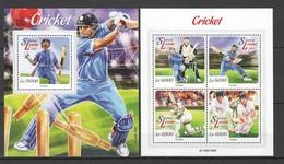 VV513 2015 SIERRA LEONE SPORTS CRICKET 1KB+1BL MNH - Cricket