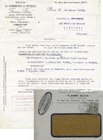 FOURNEAUX PETROLE FLAMME BLEUE PARIS POUR FROIDEFOND FORGES DE VULCAIN LIBOURNE - Marcophilie (Lettres)