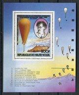 RC 14631 HAUTE VOLTA MONTGOLFIERE BALLON 1ere ASCENSION BLOC FEUILLET NEUF ** MNH TB - Obervolta (1958-1984)