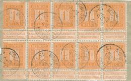 30/547 -- CANTONS DE L'EST - Fragment 10 X TP 108 Pellens MORESNET Belge 1913 - 1912 Pellens