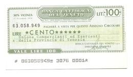 1976 - Italia - Banca Cattolica Del Veneto - Unione Commercianti Ed Esercenti Della Provincia Di Venezia - [10] Assegni E Miniassegni