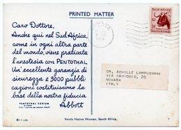DEAR DOCTOR TYPE PUBL. PENTOTHAL SODIUM / ABBOTT - SOUTH AFRICA VENDA NATIVE WOMEN - Sud Africa