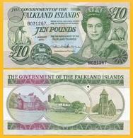 Falkland Islands 10 Pounds P-18 2011 UNC Banknote - Islas Malvinas