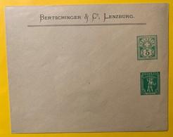 9335 -  Enveloppe Entier Postal Privé 5 Ct & 5 Ct Bertschinger Lenzburg - Entiers Postaux