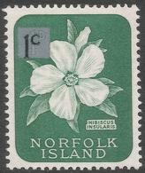 Norfolk Island. 1966 Decimal Overprints. 1c MH SG 60 - Norfolk Island