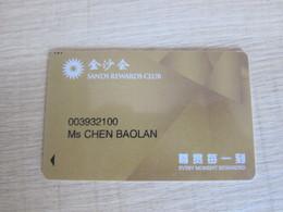 Sands Rewards Club,Macao - Casino Cards