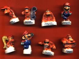 Série Complete De 8 Feves Super Mario Nintendo - Strips
