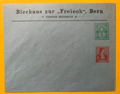 9336 -  Enveloppe Entier Postal Privé 5 Ct & 10 Ct Bierhaus Zur Freieck Bern Joseph Michaud - Entiers Postaux