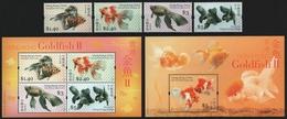 Hongkong 2005 - Mi-Nr. 1290-1293 & Block 144-145 ** - MNH - Fische / Fish - 1997-... Región Administrativa Especial De China