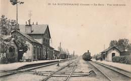 23 La Souterraine La Gare Vue Interieure Cpa Train Locomotive à Vapeur - La Souterraine