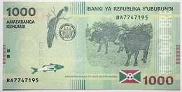 Burundi - 1000 Francs - 2015 - PICK 51a - NEUF - Burundi