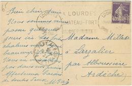 40C SEMEUSE PERFORE MONOGRAMME (PERFORATION SAUVAGE) TARIF CARTE POSTALE + DE 5 MOTS 23/8/28 - Marcophilie (Lettres)