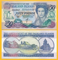 Falkland Islands 50 Pounds P-16 1990 UNC Banknote - Falklandeilanden