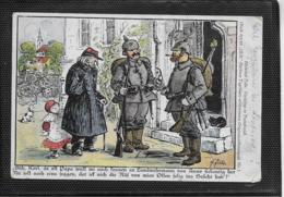 """AK 0371  Zille Heinrich - Vadding In Frankreich / """" Ulk """" Berliner Tagesblatt Um 1918 - Humor"""
