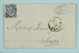 Italia, Lettre Avec Correspondence 1866 Milano --> Susa, Affr. 20 C (surchargé Sur 15) - 1861-78 Victor Emmanuel II.