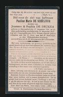 PAULINE DE SCHRIJVER  MERENDREE 1841 - 1923 - Obituary Notices