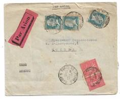 Par Avion De Paris à Moscou 1927  Tampon SELOSOYUS Ltd - Poststempel (Briefe)
