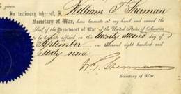 William Tecumseh SHERMAN (1820-1891) USA Famous General Autograph American Civil War 1861 1865 Washington - Autografi
