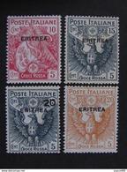"""ITALIA Eritrea-1916- """"Croce Rossa"""" Cpl. 4 Val. MH* (descrizione) - Eritrea"""
