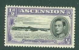 Ascension: 1938/53   KGVI    SG38b    ½d  [Perf: 13]    MH - Ascension