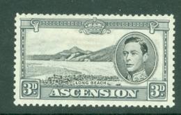 Ascension: 1938/53   KGVI    SG42b    3d  Black & Grey  [Perf: 13]    MH - Ascension