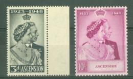 Ascension: 1948   Royal Silver Wedding Set   MH - Ascension