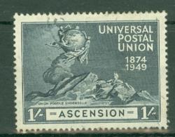 Ascension: 1949   U.P.U.   SG55    1/-    MH - Ascension