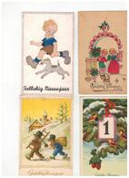 """Mooi Lot Van 100 Oude Postkaarten """"Gelukkig Nieuwjaar"""" """"Bonne Année"""" - 100 - 499 Postkaarten"""