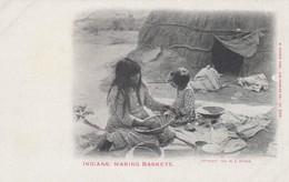 Indians , Making Baskets , 1901-07 - Indiens De L'Amerique Du Nord