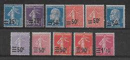 YVERT N° 217/228 * MLH CHARNIERE LEGERE - COTE = 18.75 EUR. - - France
