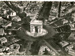 CPSM - PARIS -  PLACE ET ARC DE TRIOMPHE DE L'ETOILE - Arc De Triomphe