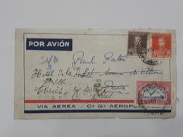 Devant De Lettre D'Argentina - Via Aerea - Aeropostale Envoyé Vers L'hotel De La Poste à Abries  ... Lot40 . - Argentine