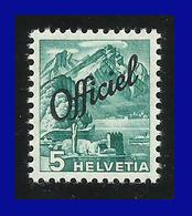 1942 - Suiza - Officiel - Cat. Michel Nº D 47 W - Papel Fino, V. Cat. Mi 160 € - Cat. Yvert Nº 186 - Superujo - MNH - 44 - Suiza