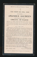AMANDUS GAUBEEN  GENT 1843  1922 - Obituary Notices