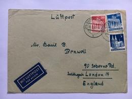 GERMANY 1950 Air Mail Cover Dortmund To London - Bizone