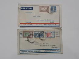 Lot De 4 Devants De Lettres D'Argentina - Via Air Aerea Aeropostale -  Envoyés Vers Paris ... Lot40 . - Argentina