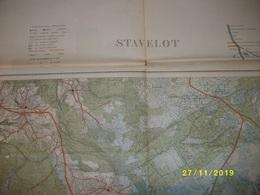 Carte Topographique De Stavelot (Nivezé - Robertville - Butgenbach - Malmédy - Waimes - Fosse) - Cartes Topographiques