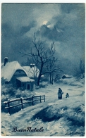 BUON NATALE - DIS. A. BERTIGLIA - PAESAGGIO INVERNALE - 193? - Vedi Retro - Formato Piccolo - Santa Claus