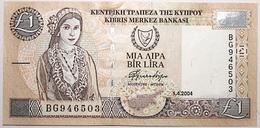 Chypre - 1 Pound - 2004 - PICK 60d - SPL - Chipre